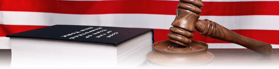 American flag, Bible, and Gavel