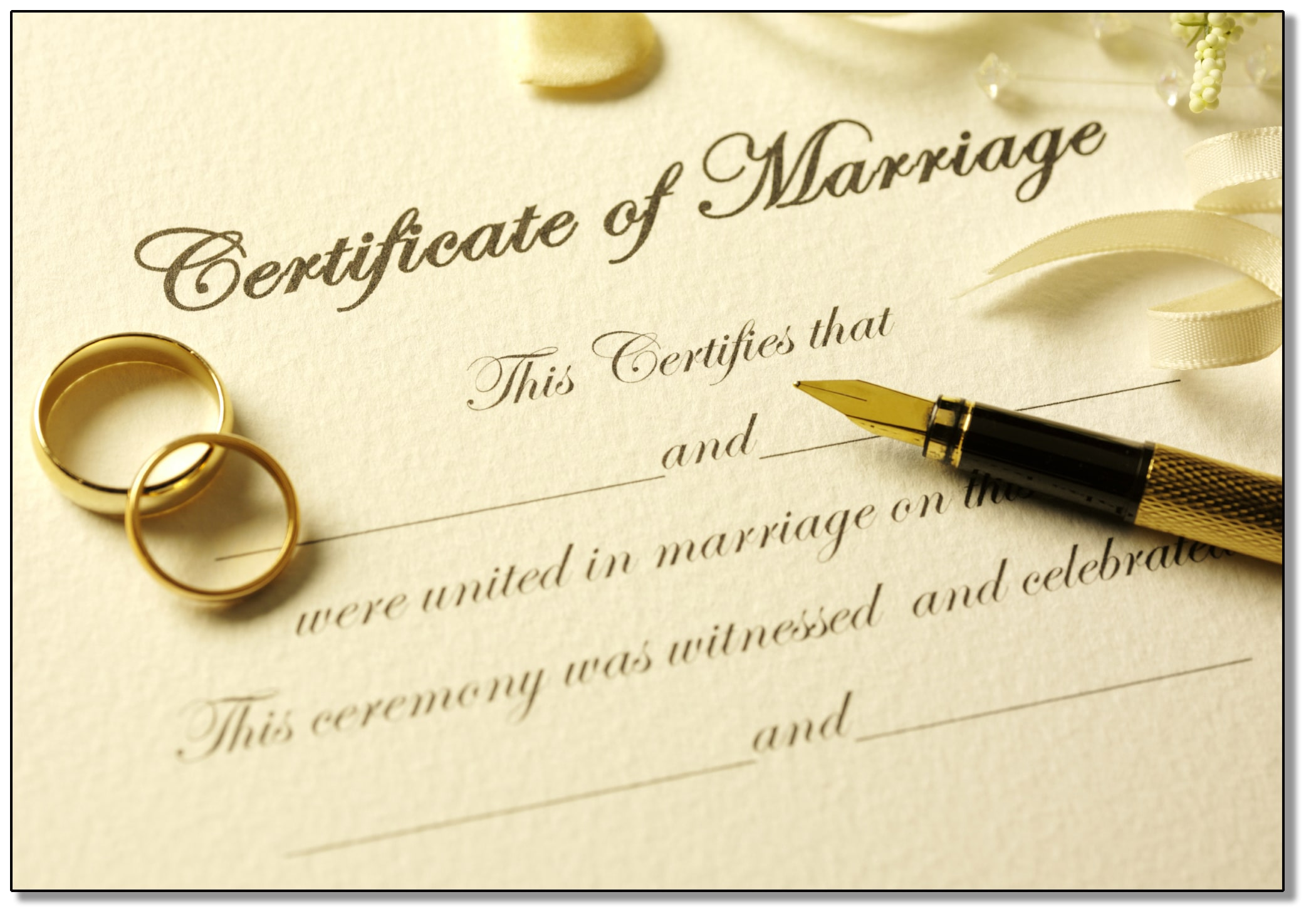 Marriage License - Town of Riga