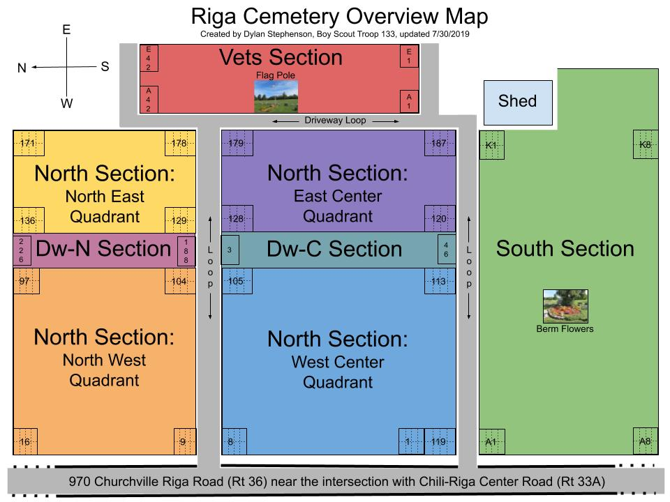 Riga Cemetery Overview Map